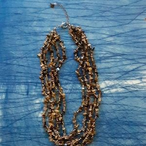 Vintage tiger eye beaded necklace